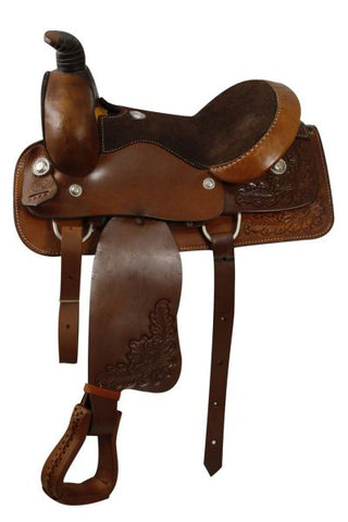 #3909: Circle S Roper Style Saddle with Full QH bars