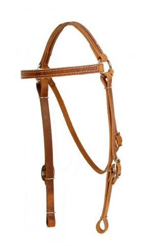 #5014: Showman ® Perfect fit harness leather headstall