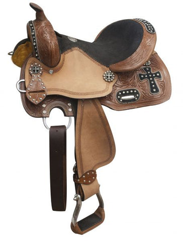 "12"" Double T youth barrel style saddle"