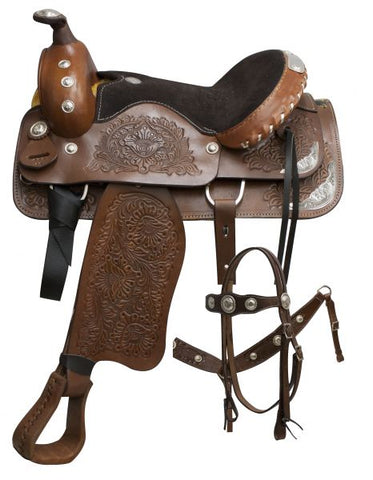 #600: Pleasure style saddl made by Buffalo Saddlery