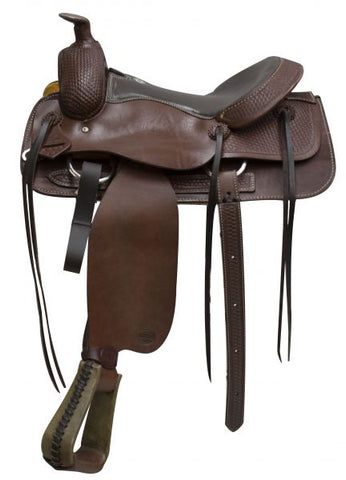 #96070: **Saddle comes with warranty card and is warrantied for roping