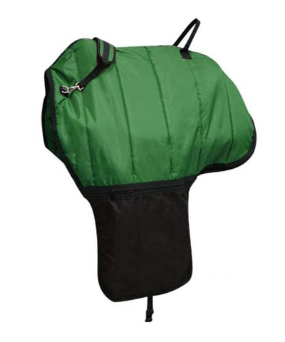 Green Heavy quilted nylon saddle carrier