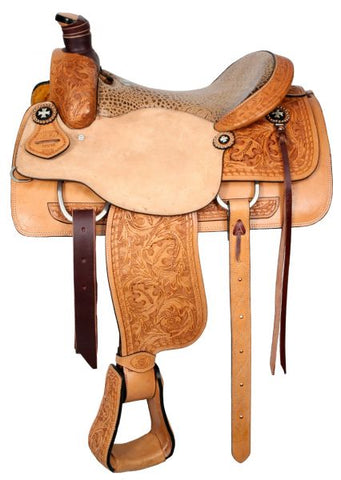 "#6398: 16"" or 17"" Circle S Roper with alligator print seat"
