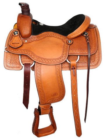 "#639916: 16"" Circle S Roper with suede leather seat"