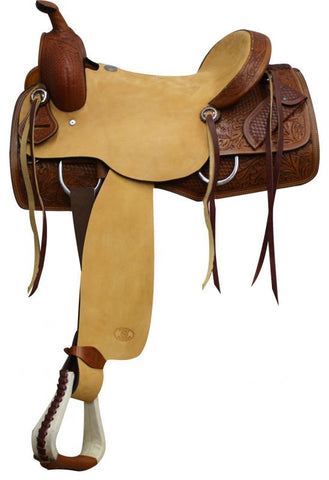 "#6543: 16"" Circle S Ranch Cutter Style Hardseat Saddle"
