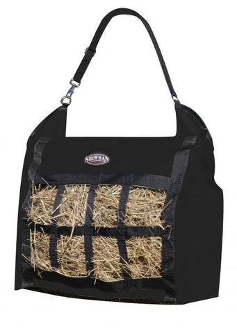 Black Showman ® Slow feed hay tote