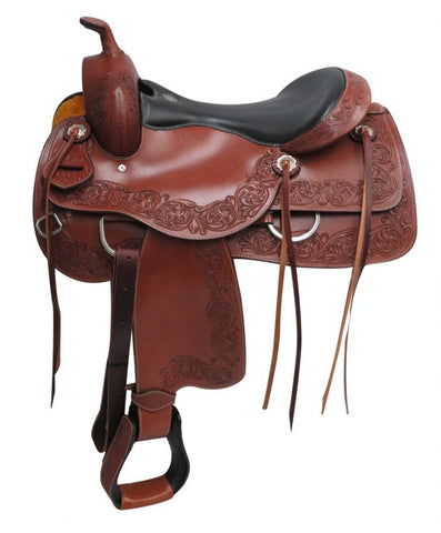 "#672516: 16"" Circle S Pleasure style saddle"