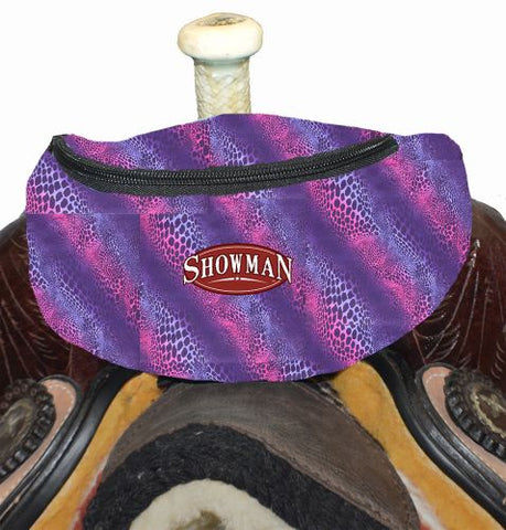 #68-7626-W: Showman ® Wild Safari Print Insulated Nylon Saddle Pouch