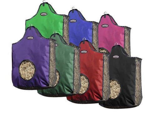 Hunter Green Showman® Heavy denier nylon hay bag with mesh sides