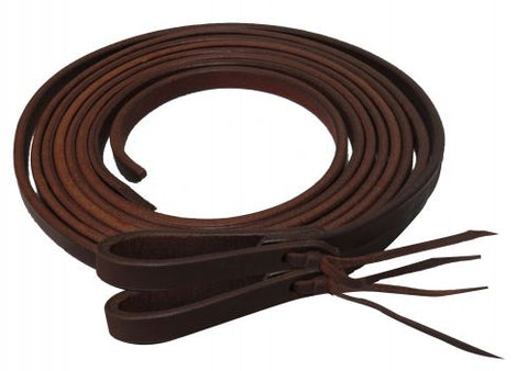 "#72022: Showman ® 8ft X 1/2"" Oiled harness leather split reins"