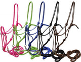 Blue Showman™ nylon rope bitless bridle