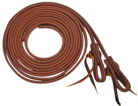 "Showman™ 1/2"" X 8' long oiled harness leather split reins"
