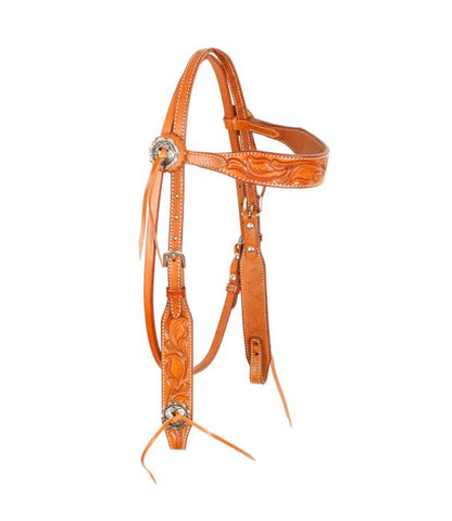 #74057: Showman ® Argentina cow leather browband headstall