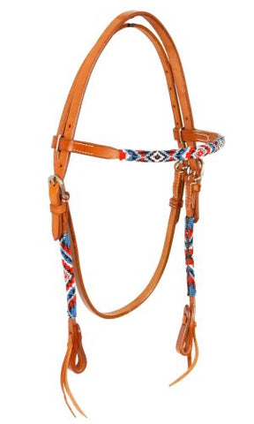 #74066: Showman ® Beaded browband headstall