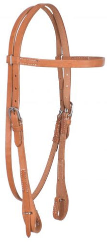 #74069: Showman ® Argentina Cowhide Harness Leather Browband Headstall