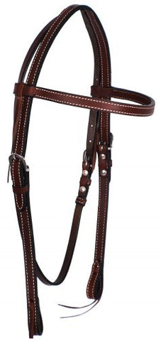 #74081: Showman ® Browband Leather Headstall