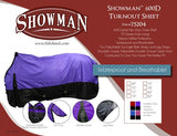 74/Blue Showman turnout sheet is waterproof and breathable