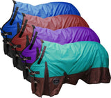 68/Teal The Waterproof and Breathable Showman ® Perfect Fit 1200 Denier Turnout Blanket