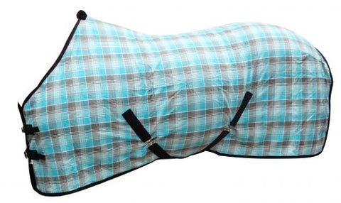 "68"" Showman ® Blue Plaid Summer Sheet"