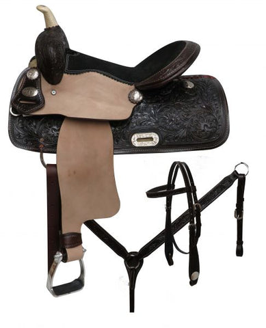 "14"" Double T barrel style saddle set"