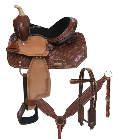 "#787110: 10"" Double T  Youth/Pony saddle set"
