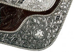 "#787416: 16"" Double T fully tooled show saddle"