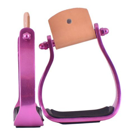 #8082: Showman® Color coated angled aluminum stirrups