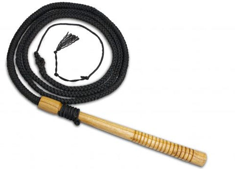 ft professional braided nylon bull whip with wooden handle