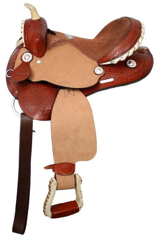 Chestnut Double T youth saddle with suede leather seat