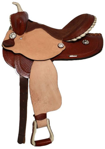 "#9574: 14"", 15"" or 16"" Double T Barrel Style Saddle"