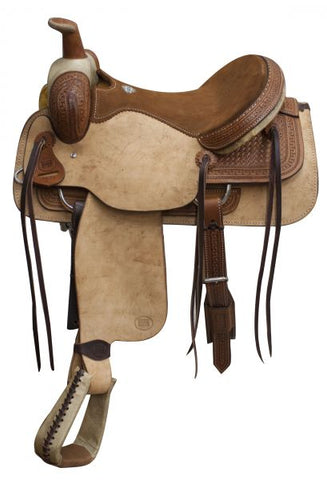 16 / Dark oil Saddle comes with warranty card and is warrantied for roping