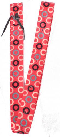 #NH-29: Showman® Nylon Tie Strap with pink circles design