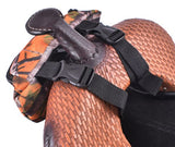 #68-7626-L: Showman ® Leopard Print Insulated Nylon Saddle Pouch