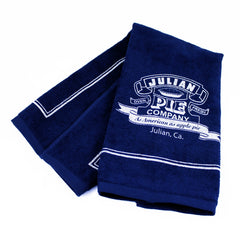 Blue Terry Logo Towel