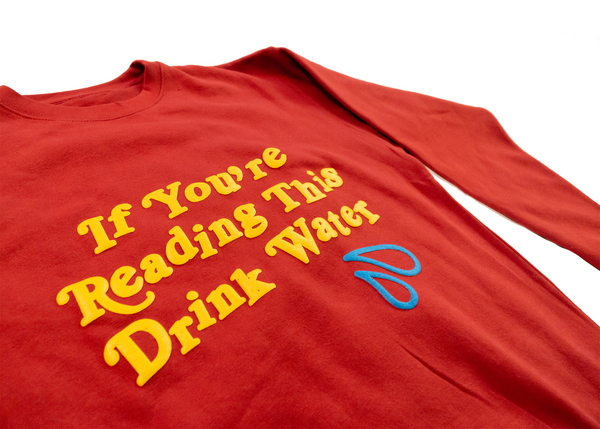 DRINK WATER CREWNECK (Red)