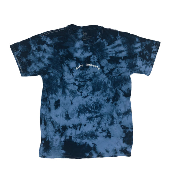 HAPPY THOUGHTS TEE (BLUE TIE DYED)