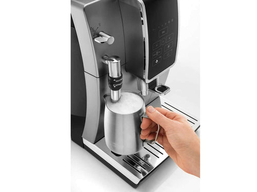Delonghi Dinamica Automatic Coffee & Espresso Machine with Iced Coffee, TrueBrew Over Ice + Premium Frother, Stainless Steel - ECAM35025SB