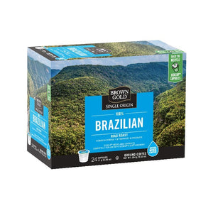 Brown Gold Coffee K-Cups 100% Brazillian 24 Count