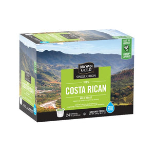 Brown Gold Coffee K-Cups 100% Costa Rican 24 Count