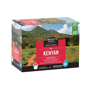 Brown Gold Coffee K-Cups 100% Kenyan 24 Count