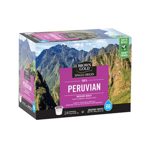 Brown Gold Coffee K-Cups 100% Peruvian 24 Count