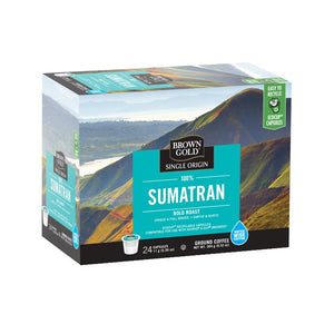 Brown Gold Coffee K-Cups 100% Sumatran 24 Count