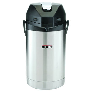 Bunn 2.5L Airpot Lever Handle Stainless Steel Steel Lined Carafe