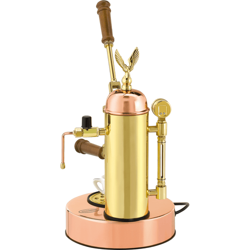 Elektra Micro Casa Leva S1 Copper and Brass Lever Espresso Machine