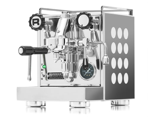 Rocket Appartamento Stainless Steel White Semi Automatic Espresso Machine