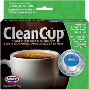 Urnex Clean Cup Single Cup/K Cup Brewer Cleaner Capsules 5 Count