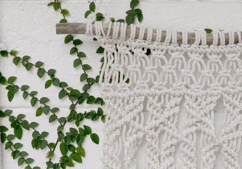 Fern Macrame Wall Hanging (1 available)