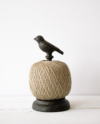 Feathered friend jute twine holder