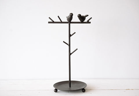 Feathered friend jewelry holder
