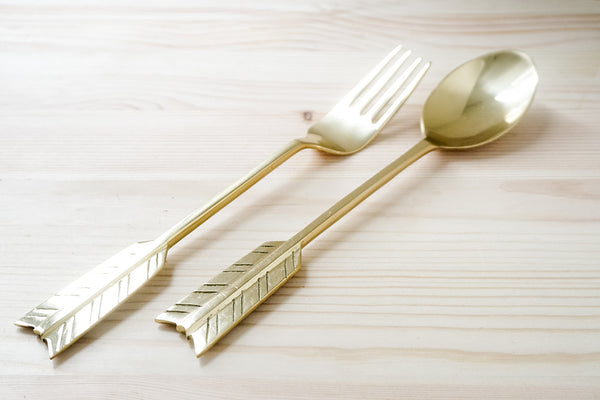 Arrow Spoon and Fork Set